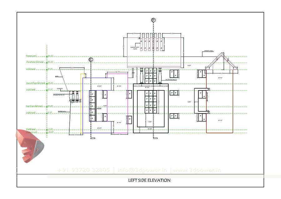 Bungalow Plan Elevation Section : Bunglow design d architectural rendering services