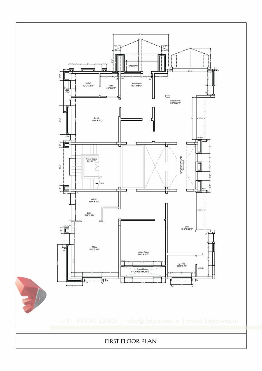 Floor Plan Elevation Bungalow : Bunglow design d architectural rendering services