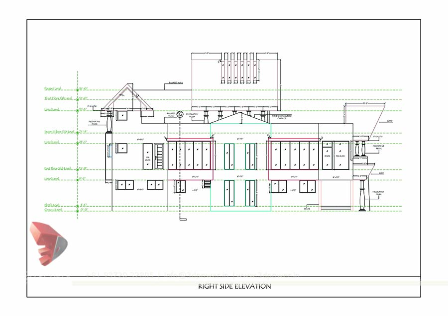 Floor Plan With Elevation And Perspective Pdf : Bunglow design d architectural rendering services