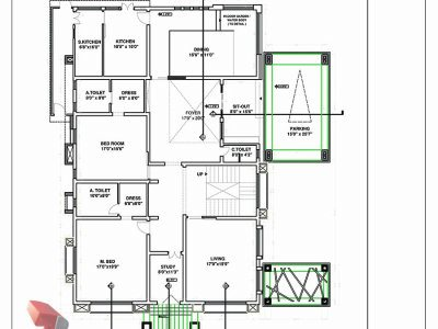 contemporary bungalow working drawing