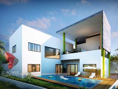 bungalow-home-modern-bungalow-design-3d-modeling-&-rendering-services-bungalow-evening-view-pune