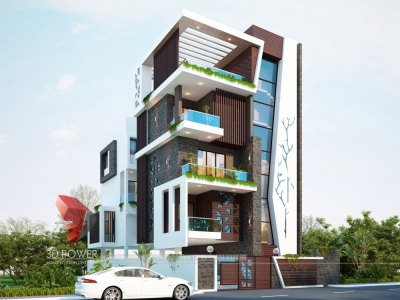rendering-and-visualization-in -Aurangabad-exterior-rendering-bungalow-day-view