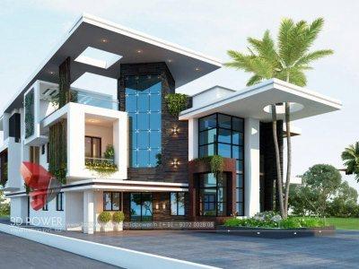 architectural-rendering-services-for-Barddhaman-3d-landscape-design-top-3d-walkthrough-rendering-bungalow-day-view