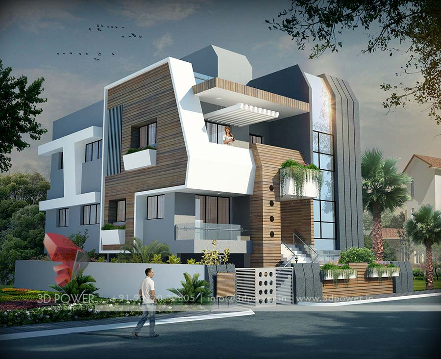 Front Design Of House In Jaipur Part - 41: 3dpower Bungalow Des.