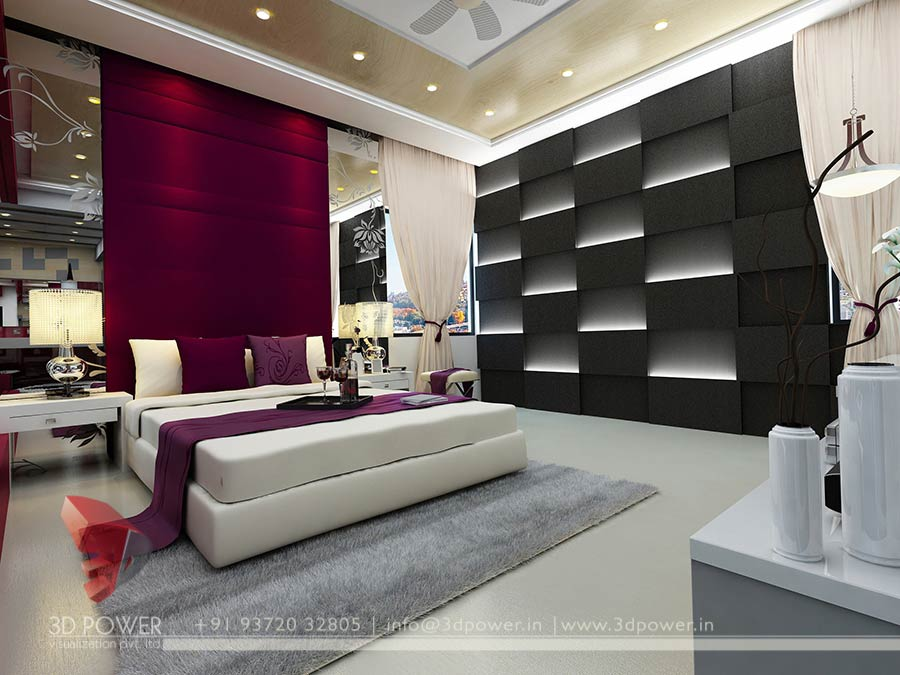 Great 3D High Class Architectural Interior Bedroom