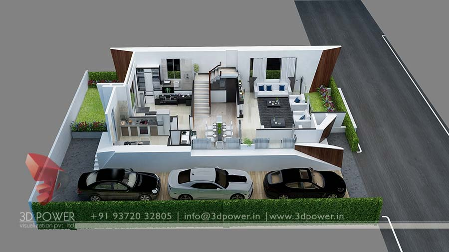 3d Bungalow Floor Pl