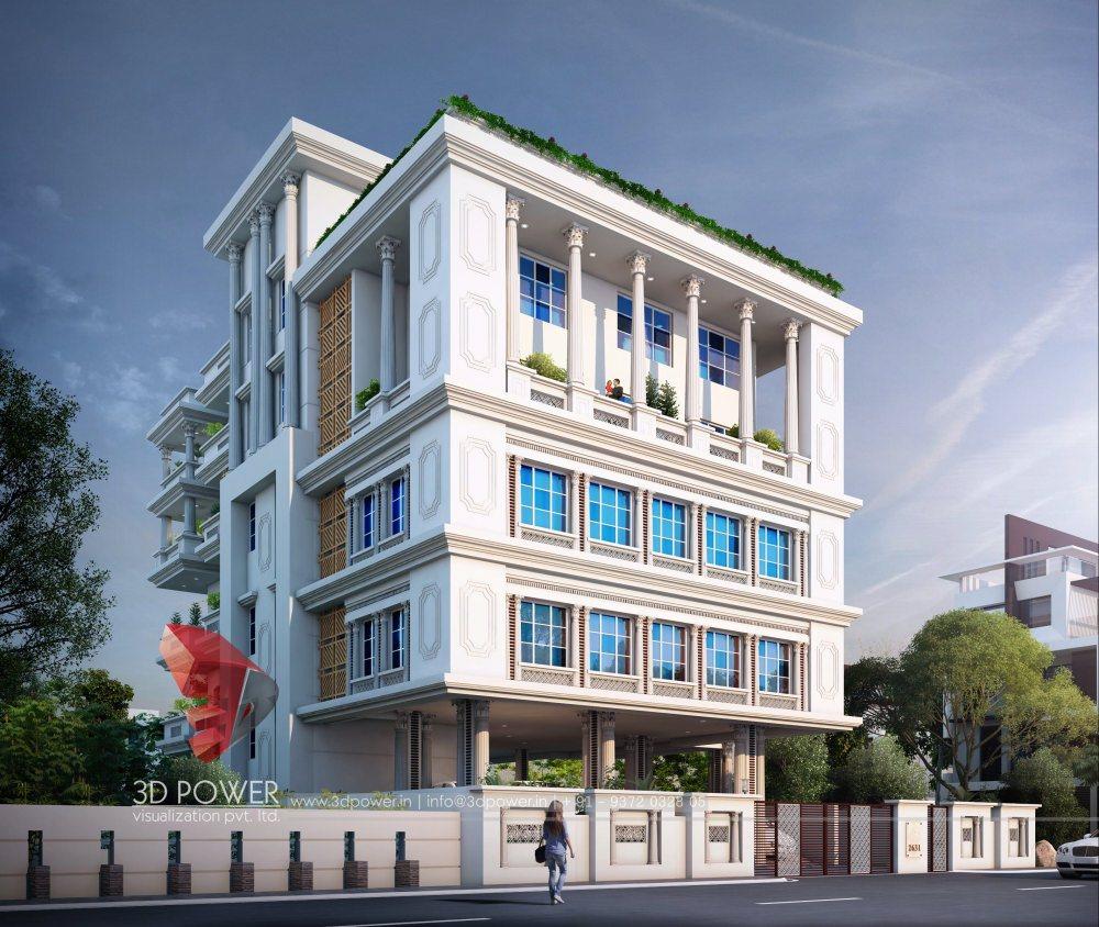 Bungalow 3d Rendering Contemporary Bungalow Rendering: Architectural 3D Bungalow Rendering
