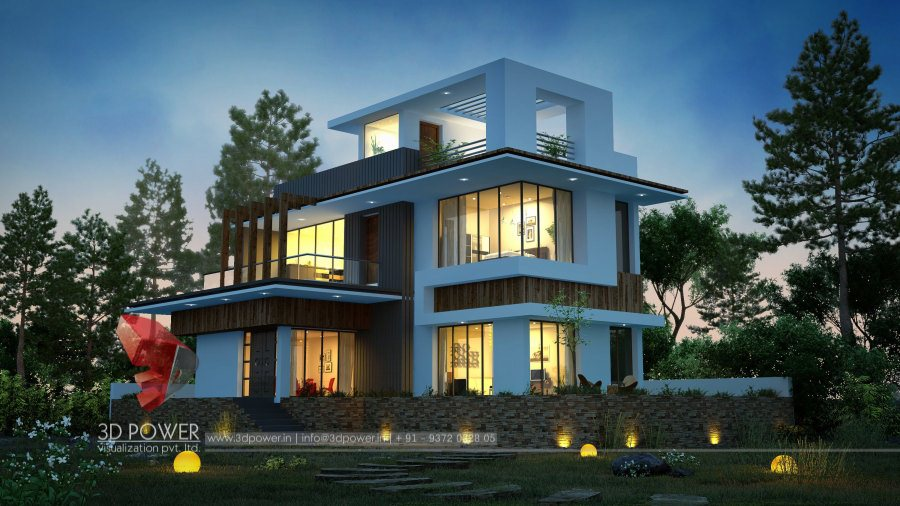 Architecture Design 3d bunglow design- 3d architectural rendering services - 3d