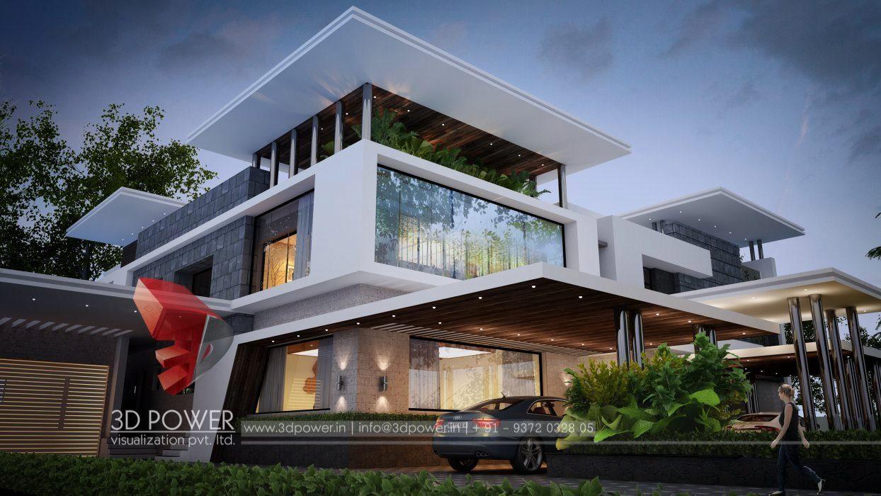 Bunglow design 3d architectural rendering services 3d architectural visualization 3d power - Home design visualizer ...