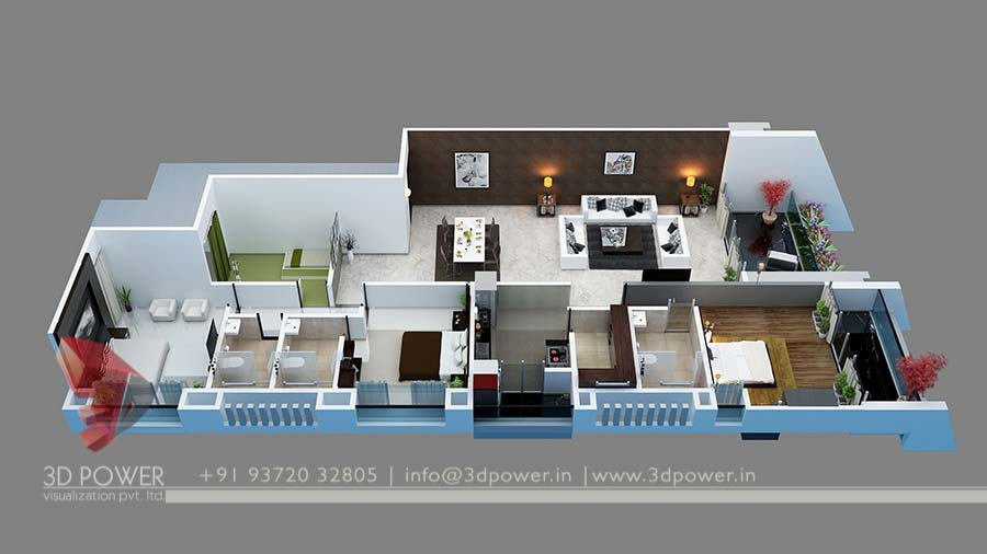 Bunglow design 3d architectural rendering services 3d for Create house design 3d