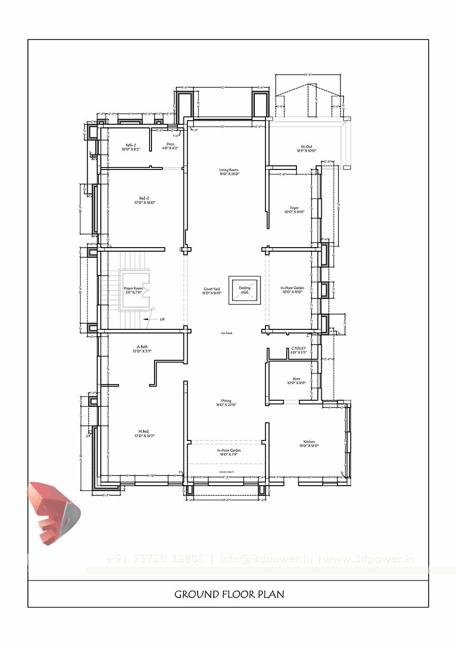 Good Cad House Plan With 3d Plan 2d