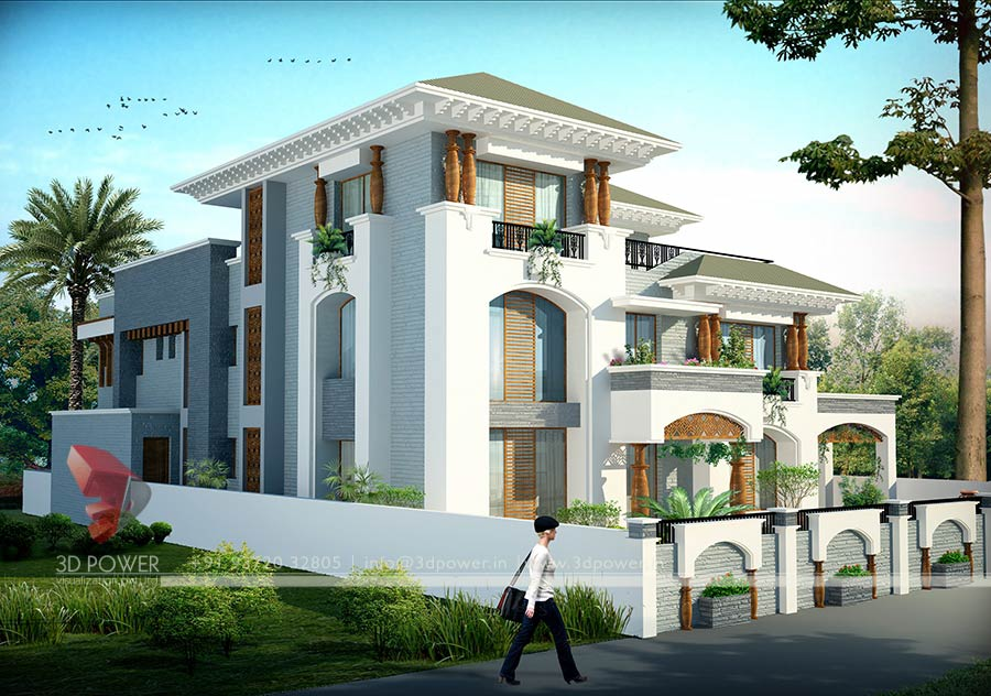 ... Contemporary Bungalow Design Rendering Bungalow Exterior