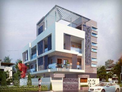 exterior-elevation-designing-services-bungalow-architectural-3d-modeling-services-bungalow-evening-view