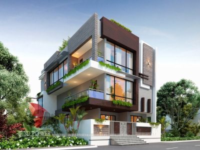 thane best 3d bungalow design animation rendering evening view in thane city