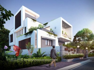 thane top architectural rendering services bungalow day view luxurious bungalow