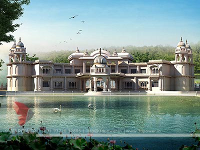 see more 3d bungalow design images