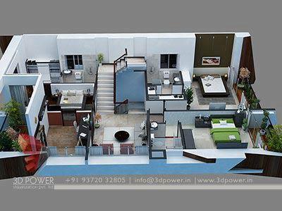 3d Bungalow Floor Plan 3d House Plan ...