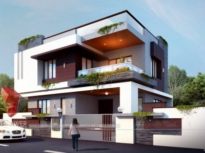 3d-floor-plan-rendering-bungalow-day-view-3d-home-design-rendering-3D-Front-Elevation