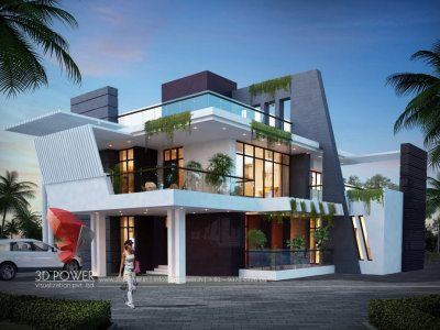 3d-moving-animation-3d-animation-studio-bungalow-night-view-luxurious-living-3D-Front-Elevation