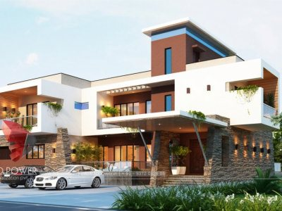 Bunglow Design- 3D Architectural Rendering Services - 3D