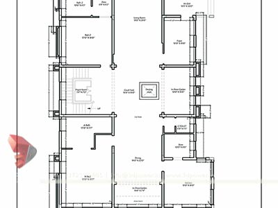 cad house plan - 2d Home Plan