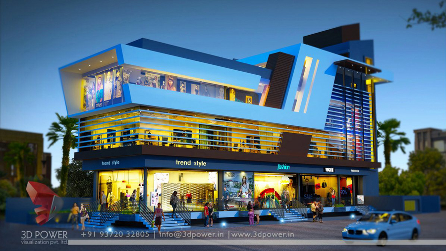 commercial building design shopping mall design multiplex 3d