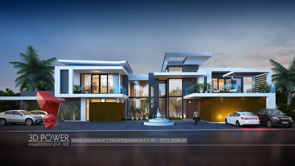 3D Bungalow Elevation | 3D Power