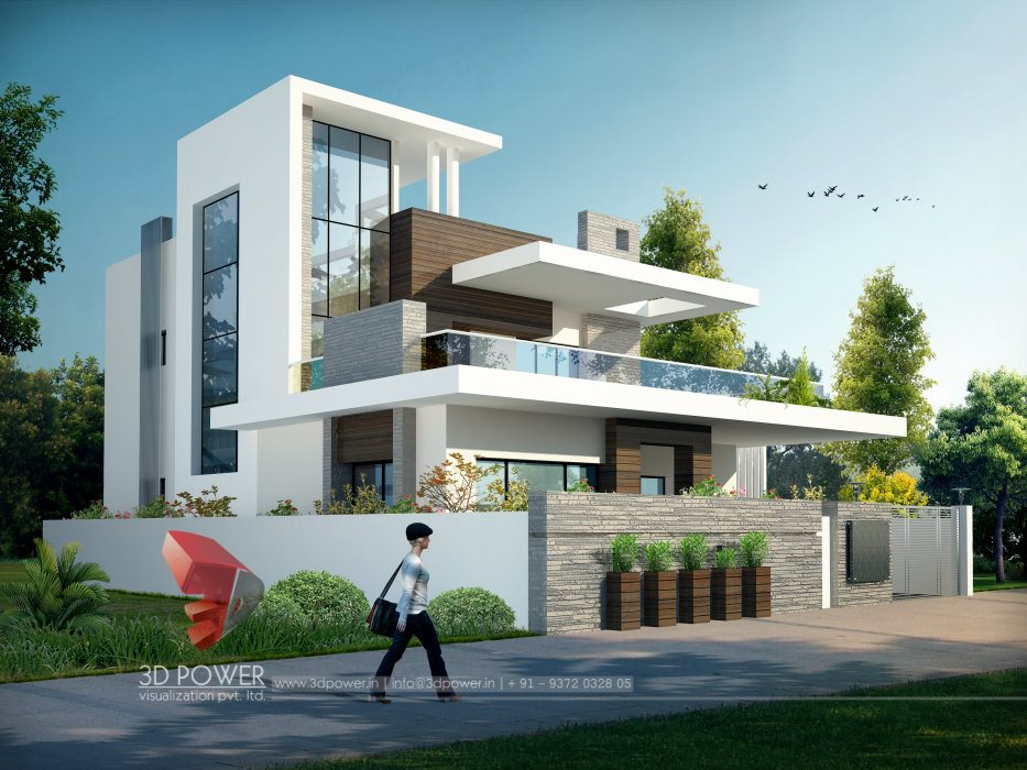 3d architectural bungalow rendering bungalow elevation for Architecture 3d