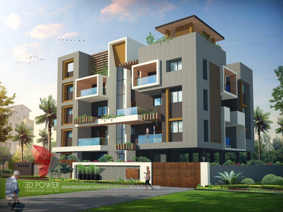 3D Architectural Bungalow Rendering   Bungalow Elevation ...