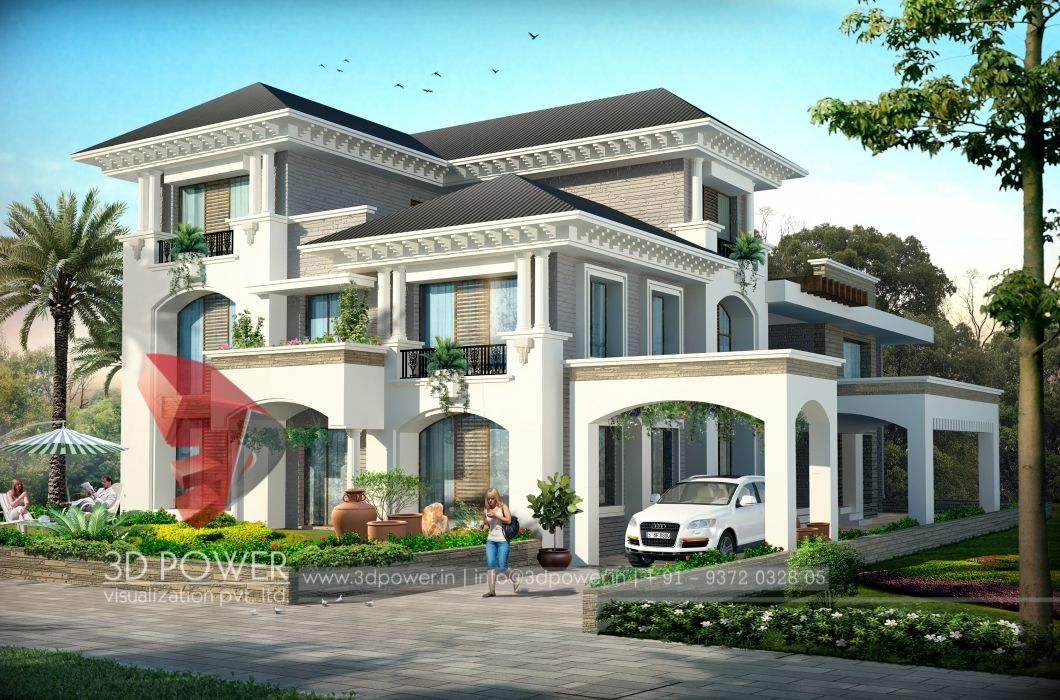 3d Contemporary Bungalow Design Bungalow Design