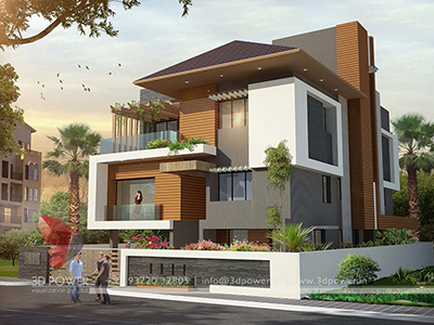 3d-architectural-rendering-bungalow-evening-view