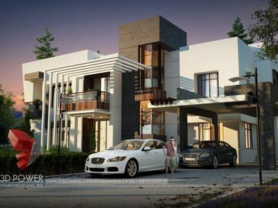 bungalow 3d rendering