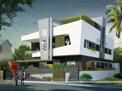 contemporary bungalow Day View design