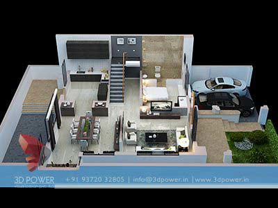 floor plan ground floor 3d