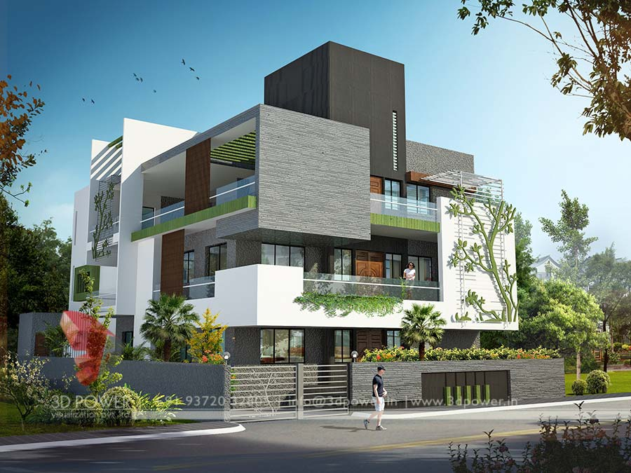 Gallery 3d architectural rendering 3d architectural for House outside design in india