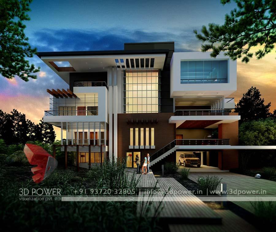 3dpower bungalow ele - Modern Villa Design Home Design