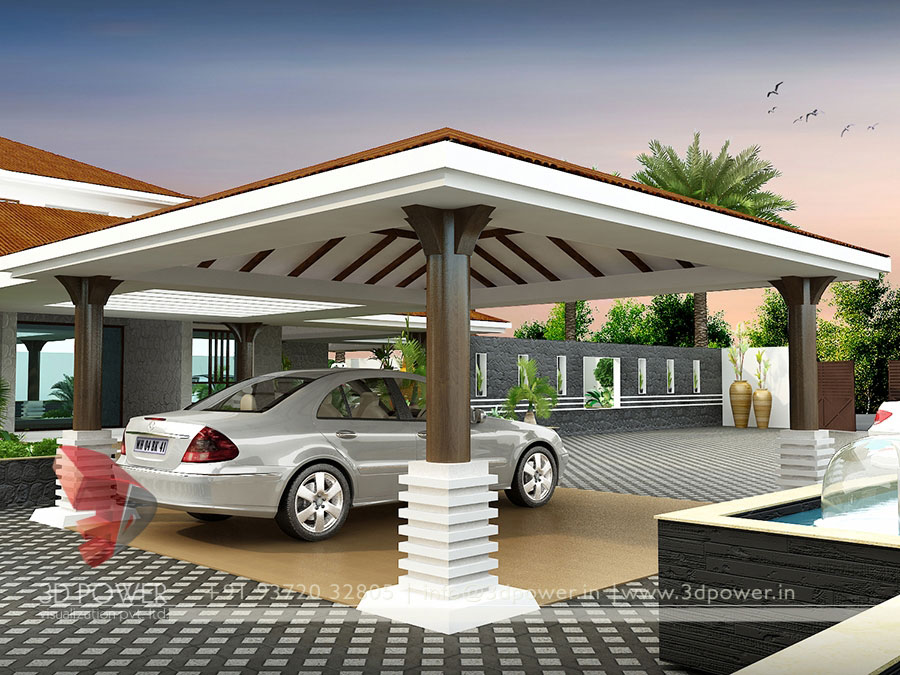Gallery - Architectural 3D Bungalow Rendering - Modern 3D ...