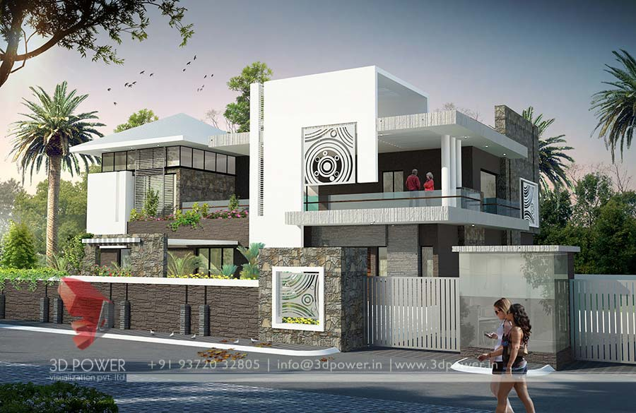 Gallery 3d architectural rendering 3d architectural for Modern home design 3d