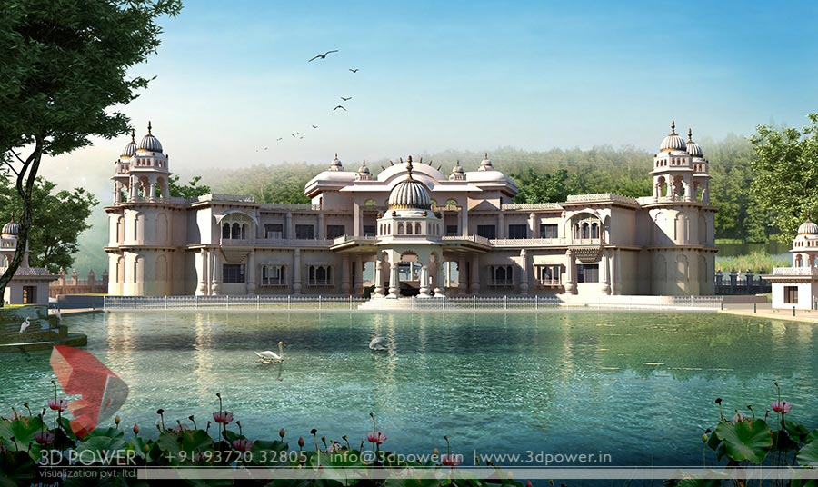 Gallery 3d architectural rendering 3d architectural for Traditional bungalow designs