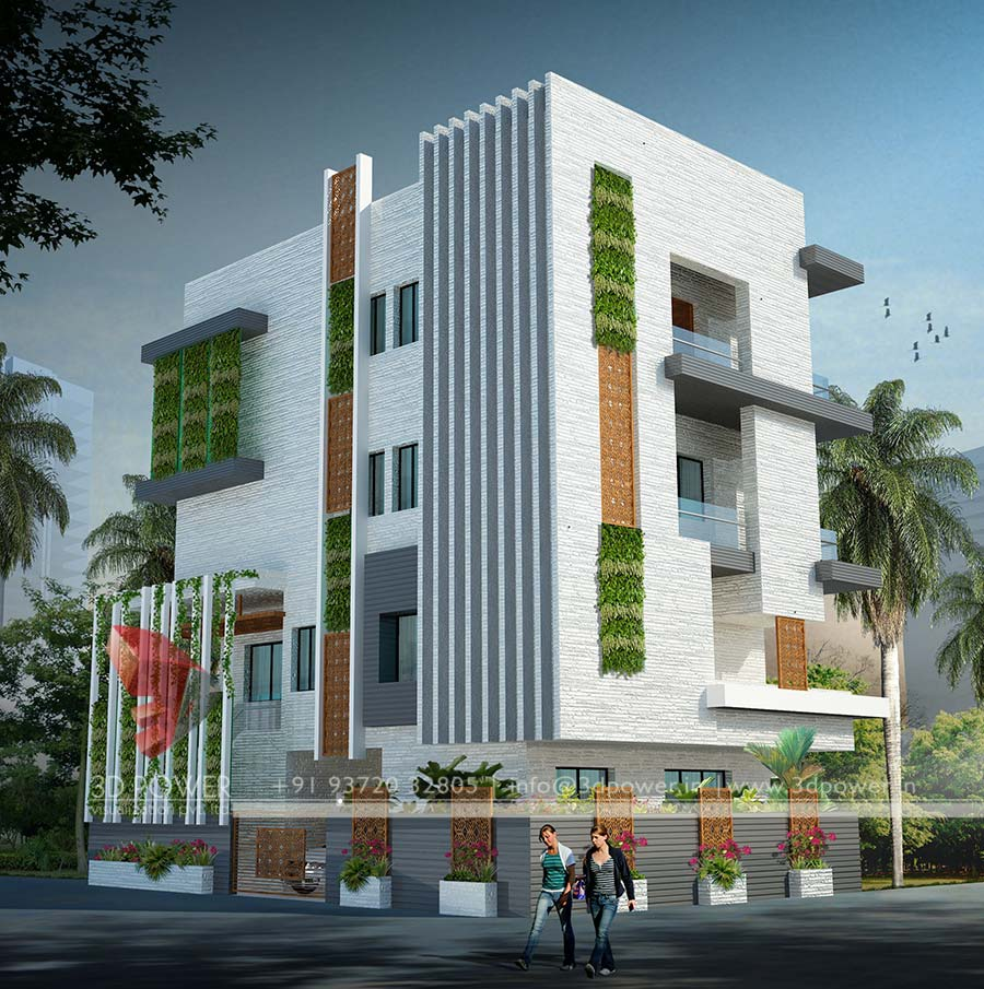Gallery 3d architectural rendering 3d architectural for Exterior 3d design