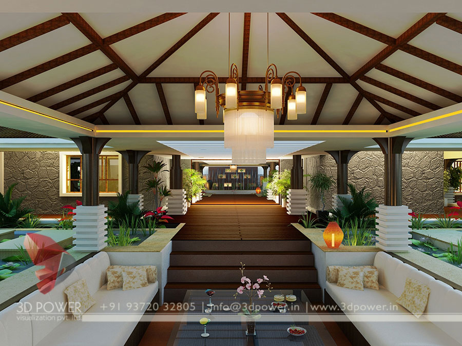 Gallery architectural 3d bungalow rendering modern 3d for Bungalow interior design