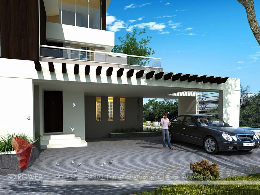 Architectural 3D Bungalow Rendering