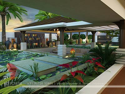 Contemporary Bungalow 3D Rendering
