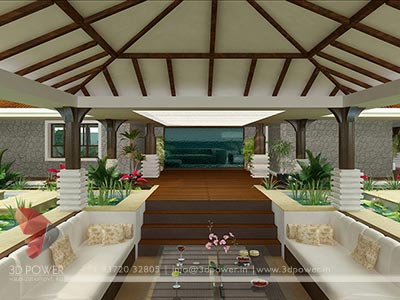 Modern Bungalow rendering, India