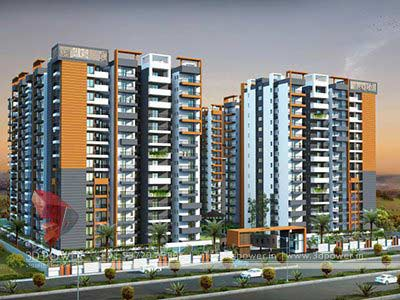 3d modern high rise building design - 3d Building Designs