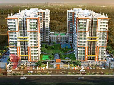 High Rise Apartment Design Exterior gallery - 3d architectural rendering services - 3d architectural