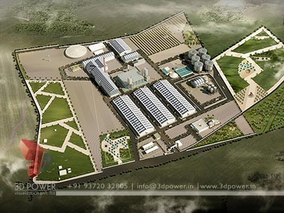 Industrial project 3d rendering