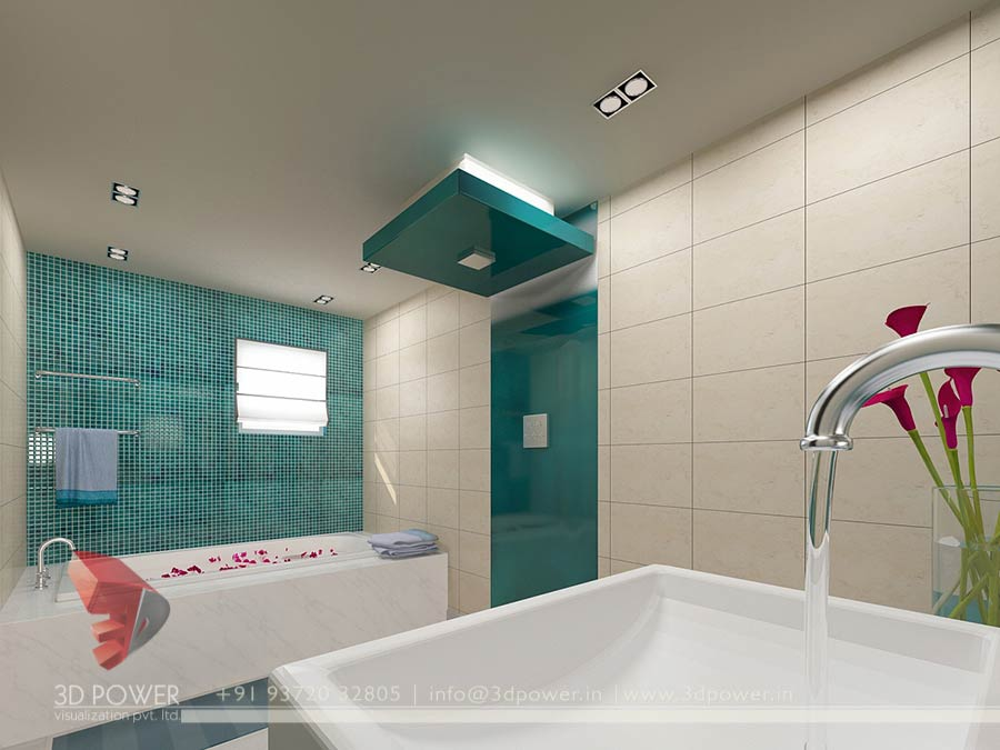 Gallery 3d architectural rendering 3d architectural for Bathroom interior design india