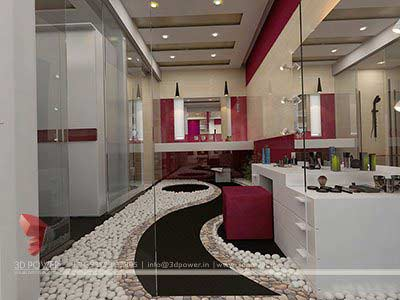 bathroom interior 3d rendering