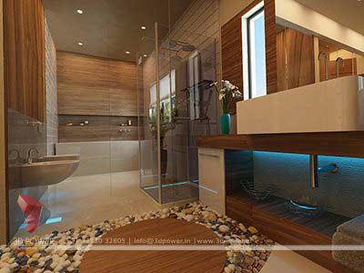 toilet room interior design 3d